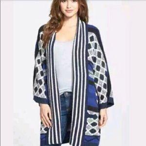 Lucky Brand Boho Tribal Aztec Sweater Coat Sz L/XL